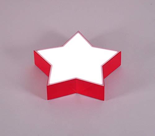 Star-decken-beleuchtung (LED-Eisen Farbe Star Kinder Kinder Schlafzimmer Decke Decke Beleuchtung - Effizienz (Farbe: Rot, Größe: 45 cm))