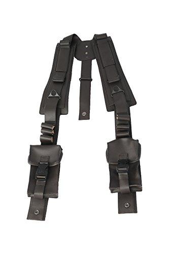 e Schulter Taschen Spiel Cosplay Gurt PU Schwarz Kostüm Requisiten für Verrücktes Kleid Waren ()