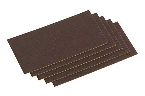 Metafranc Filz-Gleiter 100 x 200 mm - selbstklebend - braun - 5 Stück - Effektiver Schutz Ihrer Möbel & Stühle / Möbelgleiter-Set für empfindliche Böden / Stuhlgleiter / Filz-Zuschnitt / 645426