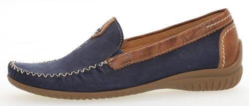 Gabor Comfort Basic Mokassin in Übergrößen Blau 86.090.46 große Damenschuhe, Größe:44.5