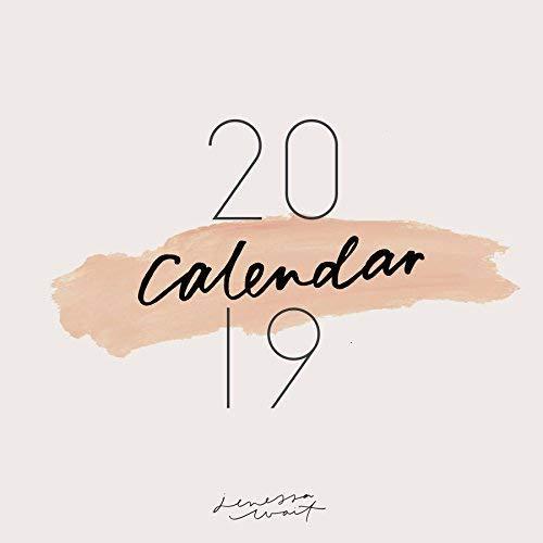 2019Inspirierende Kalender, Planer, Wandkalender, minimalistische Christian (30,5x 61cm beim Öffnen)