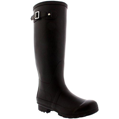 Schwarze Winter-schnee-stiefel (Damen Original Tall Schnee Winter Regen Wellies Gummistiefel Stiefel - Schwarz - 36 - CD0001)