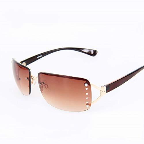 Ultra Light Eyes Protection Shade Randlose Sonnenbrille Damen Brand Luxury Diamond White Square Mirror Sonnenbrille Weiblich