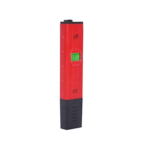 pH Messgerät Wasser Wasserqualität Tester Digitales pH Messgerät mit LCD Display ± 0.01pH Hohe Genauigkeit, 0.00-14.00 Messbereich PH-Meter für Haushalt Trinkwasser Hydroponic Aquarium Spa Pool (rot)