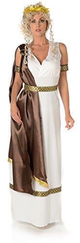 (Römische Kaiserin Damen Altgriechische Göttin Historische Rom Frauen Erwachsene Kostüm (Small European 38 - 40 (UK 10 - 12)))