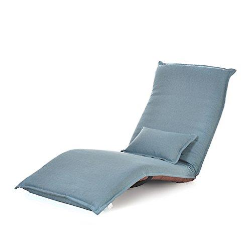 Individuelle Möbel Sofa (Sitzsäcke Lazy Sofa Stuhl Individuelle Klappbett Boden Liegen Computer Stuhl Faltbar (Farbe : Blau))