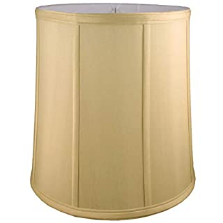 American Pride Lampshade Co. 72-78090616 Round Soft Tailored Lampshade, Shantung, Honey