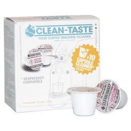 Clean-Taste 10x Reinigungskapseln Nespresso Kapselmaschinen - Die Kapsel für den frischen Geschmack