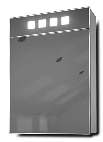 Diego Eck-Unterschrank Spiegel mit Rasiersteckdose und Sensor K147