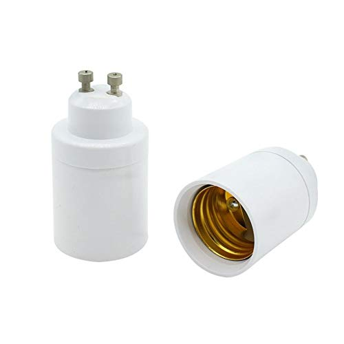 REFURBISHHOUSEAdapter GU10 auf E26 / E27 GU10 Bajonettsockel auf E26 / E27 Adapter Fuer Edison Schrauben Lampe Adapter Konverter Fassung -