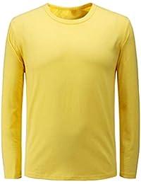 f832b1263e97 Herren Basic Langarmshirt Einfarbig Herrenmode Slim Fit Herbst Mit T-Shirt  Rundhals Mode Casual Shirt