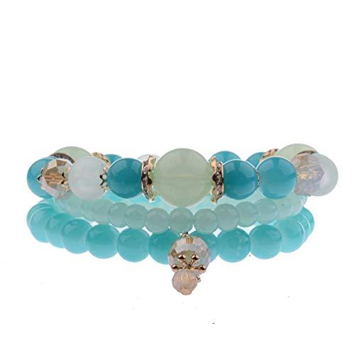 WFYJY-Fashion-Mode Alloy Bohrer Fransen Mehrschichtige Perlenbesetzten Armband Zubehör Persönlichkeit.B
