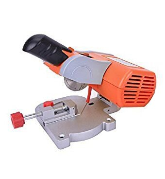 ParaCity Mini Bench Cut-off Saw Steel Blade Cutting Metal Wood Plastic with Miter Gauge 220V