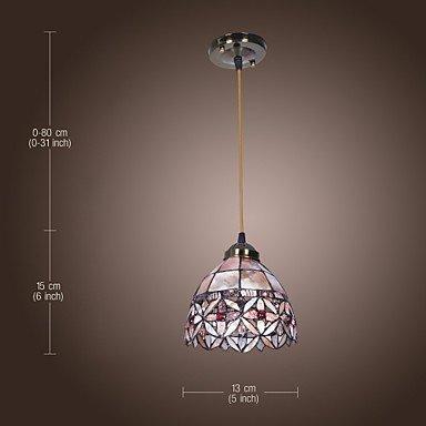 BinLZ Chandelier Moderne Kronleuchter Deckenleuchten Anhänger Max 60W Tiffany Bowl Style Mini Kronleuchter Wohnzimmer Esszimmer Eintrag 3C Ce FCC Rohs für Wohnzimmer Schlafzimmer, 220-240 v - Tiffany Mini Anhänger Lampe