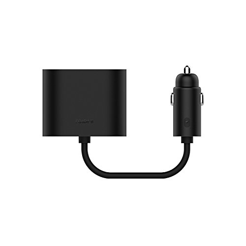 ROIDMI 2-zu-1-Auto-Anschluss-Adapter, Dual Zigarettenanzünder Splitter für Roidmi 2S 5-in-1 Wireless Bluetooth Musik-Player, FM-Transmitter, andere Kfz-Ladegeräte
