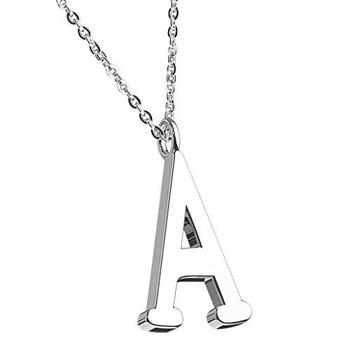 Mianova Damen Halskette Kette mit Buchstaben Anhänger Silber -