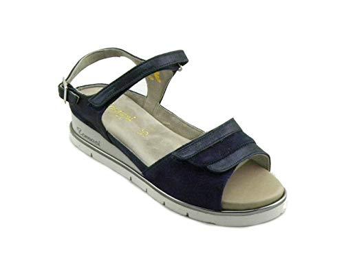 F.LLI TOMASI Sandalo Comodo Donna predisposto per Plantari Melita Blu e190103 37