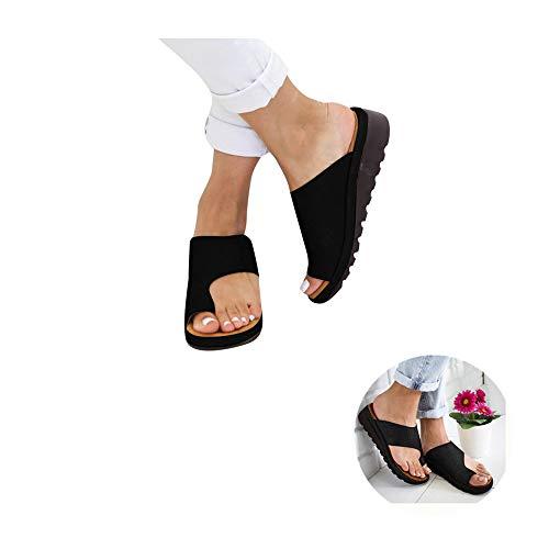 - Plattform Sandal (99native 2019 Damen New Bequeme Plattform Sandal ,Sommer Strand Reise Schuhe Flach Flip Flops Badeschuhe Pantoletten Peeptoe Zehentrenner, Trailer Sandals Sandale Schuhe (EU:39, Schwarz))