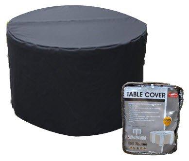 HBCOLLECTION Housse pour Table de Jardin Ronde 128cm Polyester Coloris Noir