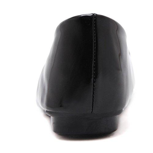 Donne delle nuove moda di svago Scarpe singole Scarpe quadrate Shallow Bocca brevettata in pelle Rhinestones Pumps Scarpe da corsa Black Red Fall Spring Party Work Black