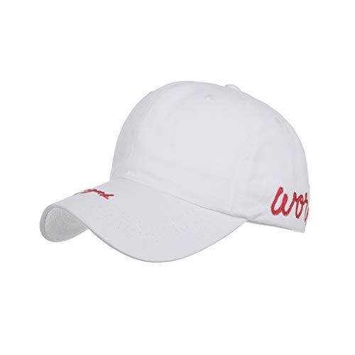 Yncc Womens Mans Baumwolle Hochwertige Bestickte Unisex Baseball Caps Verstellbar Khaki Schwarz Weiß Navy (WH) Navy Womens Cap
