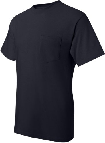 Hanes Men's Beefy-T T-Shirt With Pocket Dunkles Marineblau