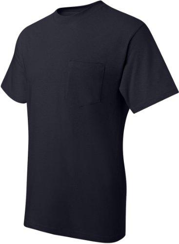 Hanes Men's Beefy-T T-Shirt With Pocket Dunkles Marineblau