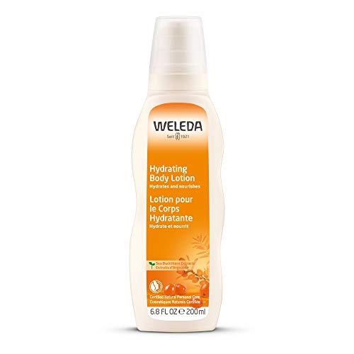 WELEDA Sanddorn Reichhaltige Pflegelotion, vitaminreiche Naturkosmetik Bodylotion zur nachhaltigen Pflege trockener Haut und angenehmen Duft, geeignet für Allergiker (1 x 200 ml) -