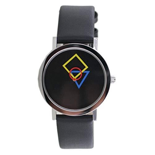 Aristo Bauhaus Damen Uhr Edelstahl 4D86S Leder schwarz