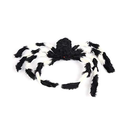 jeeri Halloween-Spinnen Nähte Farbe mit furchterregenden roten Augen Groß Scary Prop Halloween-Spinne im Freien für Draussen Tür Spukhaus Hof (Bein-halloween-kostüm Machen Spinne Ein)