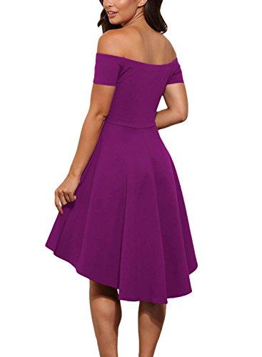 DOKOTOO Damen Skater Kleid rosig