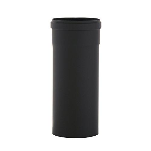 Ofenrohr Senotherm® 1,2 mm Ø 100 mm hitzebeständig lackiert, gerade - Rauchrohr, Kaminrohr schwarz - für Pellettofen und Kamine - Länge: 250 mm