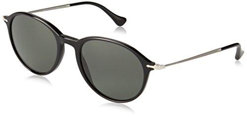 Persol Unisex PO3125S Sonnenbrille, Gestell: schwarz, Gläser: grau polarisiert 95/58, Medium (51)
