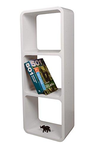 Etagères Design Rétro Mur Bibliothèque Cubes Cube Décoratif étalage Vitrine Blanc LO13B