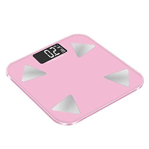 AAS Básculas de baño con analizador Ultra Delgado, medir Peso, Cuerpo, Porcentaje de Grasa, Agua Corporal, con pies de Alfombra, Pantalla Digital fácil de Leer - Cristal