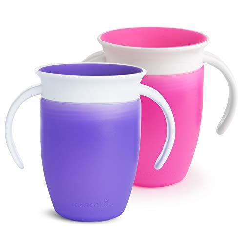 Munchkin - 2 Vasos entrenamiento Miracle, rosa/morado