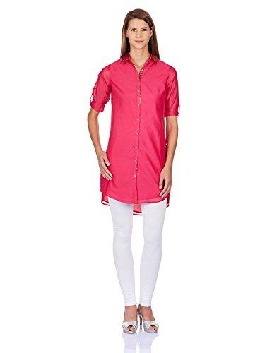 Biba Women's Straight Kurta (SILK CHRONICLE(I)10908_Pink_32)  available at amazon for Rs.399