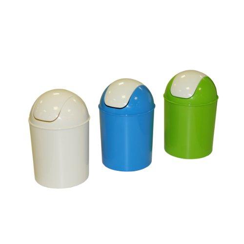 Axentia Mülleimer mit Schwingdeckel, Abfallbehälter für die Küche, Bad oder Kinderzimmer,...