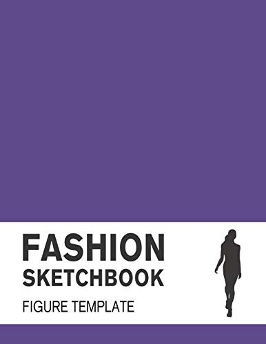 Fashion Sketchbook with Figure Template: Fashion Sketchpad with lightly drawn Large Croquis for Fashion Designers por Lance Derrick