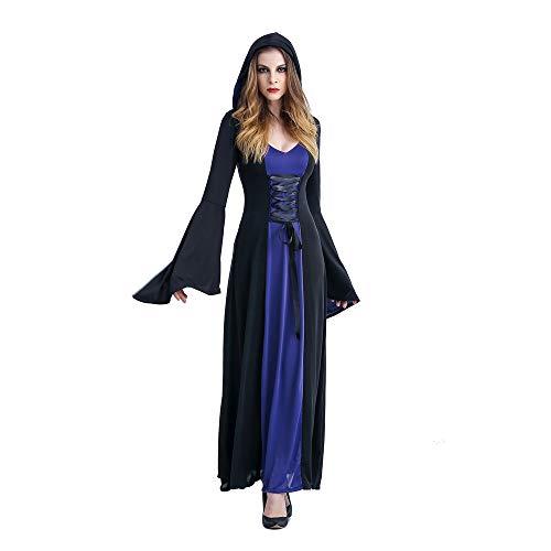 Kostüm Sexy Lila Hexe - Halloween Kostüm, Adult Cosplay Sexy Hexe Mit Kapuze Kleid, Bühnenspiel Vampir Kostüm,Lila