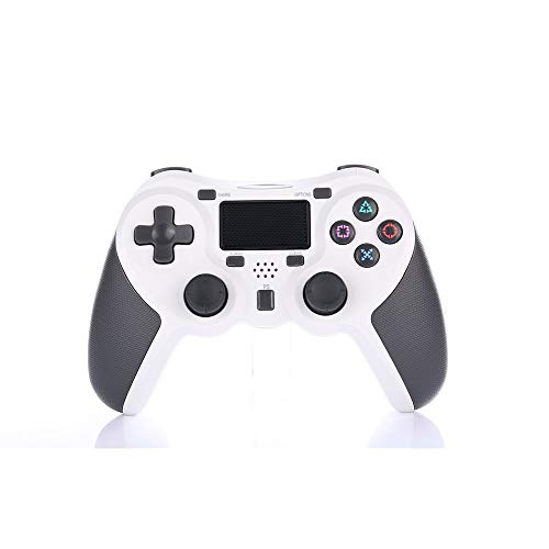 HXZ PS4 Wireless Bluetooth Controller, kommt mit Bluetooth, eingebaute wiederaufladbare Lithium-Batterie für Playstation 4 / PS4 / PS3 / PC,White