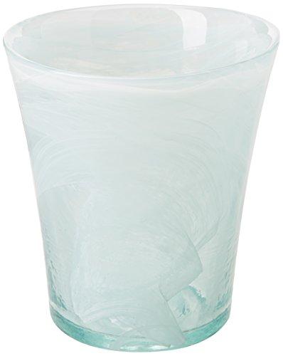 Ecoware 7468AQ Orchideentopf, recyclebares Glas, 13,5 cm Innendurchmesser, nach oben geweitet