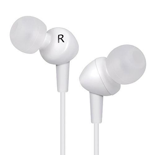 in Ear kopfhörer - Bestfy Leichte kopfhörer (Noise-Cancelling-Kopfhörer) kopfhörer in Ears mit Mikrofon für Samsung iPhone/iPad/ipod und Andere Smartphone (Weiss) Iphone-ear-kopfhörer