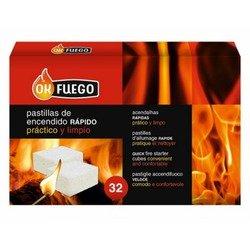 Caisse 32 Plaquettes allume feu rapide et nette bois et charbon OK Feu
