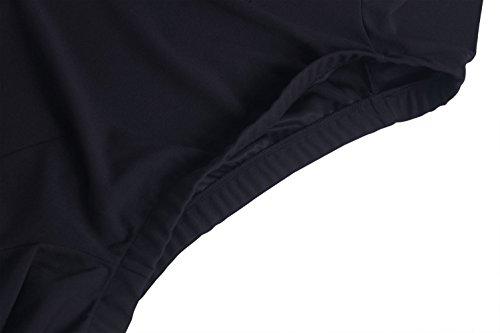 ZJCTUO Damen Kleid Abendkleid Schulterfreies Cocktailkleid Jerseykleid Skaterkleid Knielang Elegant Festlich Asymmetrisches Partykleid- Gr. 42 (XL), Schwarz - 6