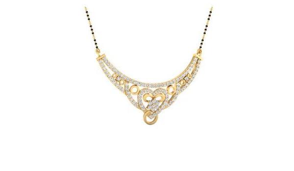 0 88 Carat Natural Diamond Necklace Jewelry Pendant Mangalsutra