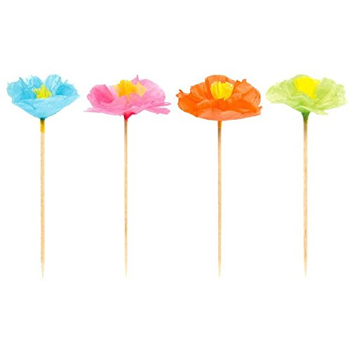 (Amscan 400104 20 cm Hawaiian Flower Picks)