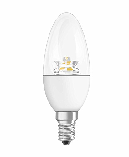 OSRAM LED-Lampe E14 Star Classic B Energiesparlampe / A+/ 6W - 40 Watt-Ersatz, LED-Kerzenlampe / klar, warmweiß - 2700K