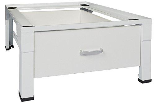 Standart Untergestell für Waschmaschine oder Trockner Sockel Podest Erhöhung Unterschrank für Kühlschrank, Hochwasserschutz... NEU MIT SCHUBLADE 150 Kilo max. FREI HAUS
