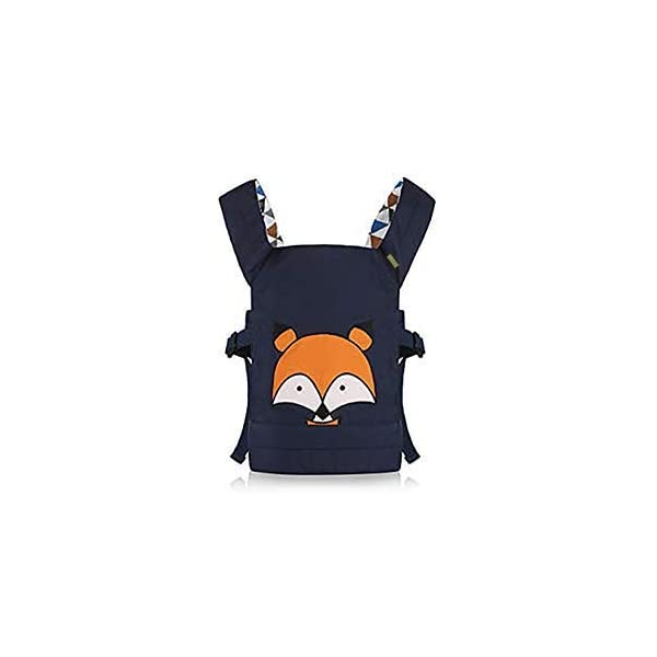 CUBY Dolls Carrier Front and Back Soft Cotton Suitable for Baby Over 18 Months, Fox - Blue (Fox - Blue) CUBY ★100% soft cotton material, gentle to the kids' skin. ★0.18 kg, 5.51 × 9.84 × 12.8 inches (L × W × H); The dimension of dolls should be smaller than 24.8 inches. ★ Padded shoulder and waist straps. 2